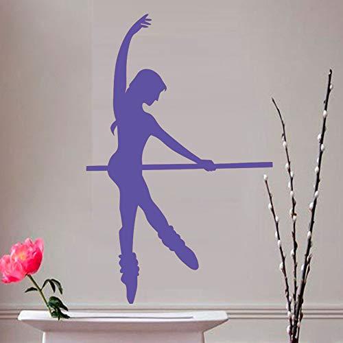 yiyiyaya Wand Dekor Aufkleber Wohnzimmer Sofa Hintergrund Selbstklebendes Vinyl Wandtattoo Dekoration lila 58 cm X 90 cm