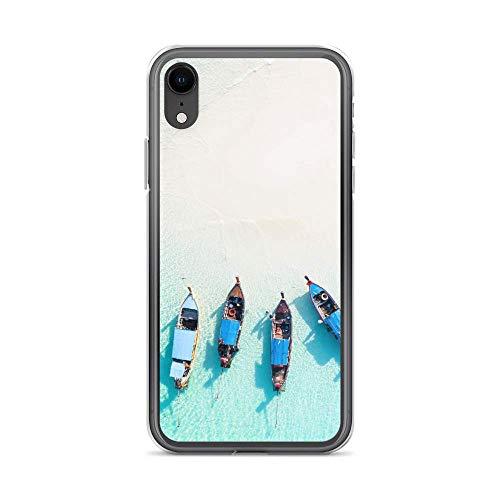 blitzversand Funda para teléfono móvil Boat Trip Relax compatible con Huawei G8 Mini Barco Playa Carcasa Bumper Transparente alrededor de Protección Dibujos M11