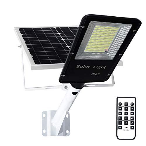 Solar Lights Outdoor, 200W Flood Lights Lamp with Remote Control Timing High Brightness Dusk to Dawn 300LEDs Security Lighting for Yard, Garden, Gutter, Pathway, Basketball Court
