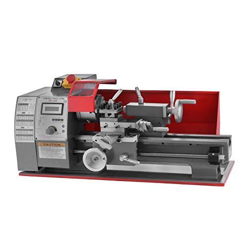 VEVOR 600W Torni da Banco 7 x 12 pollici di Precisione Mini Tornio 2500 RPM Mini del Metallo Tornio a Velocità Variabile 25 mm Contropunta Manica Sistema di Controllo Digitale