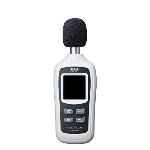 サンワサプライ デジタル騒音計(騒音・温度 計測可能) 小型 CHE-SD1