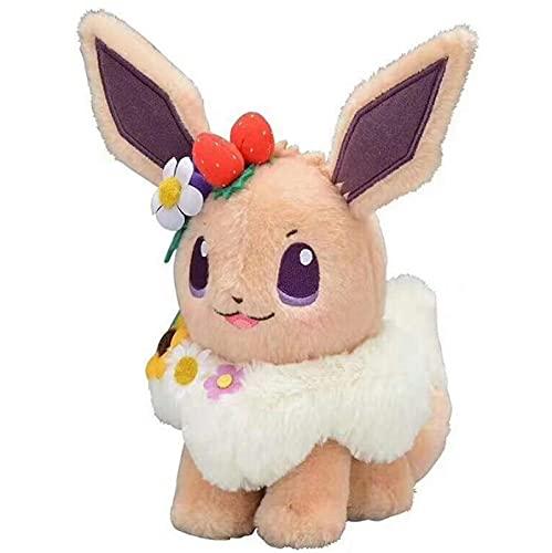 SDFB Rosa Kawaii Pikachu Eevee Muñeco De Peluche Festival De Pascua Guirnalda Decoración Lindo Juguete De Peluche Niños Regalo 18Cm