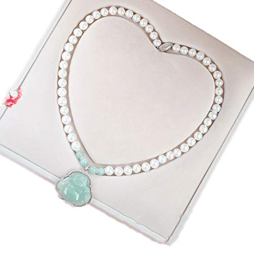 WUHE Pendant Female Clavicle Necklace, Natural Freshwater Pearl Necklace, Birthday Gift For Mother-in-law (Color : Style C 43cm)