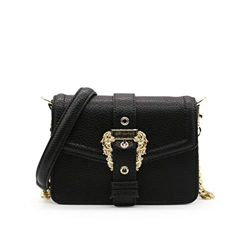 Versace Jeans Couture Tasche E1VWABF6 Farbe Schwarz mit goldfarbenem Logo und Kette