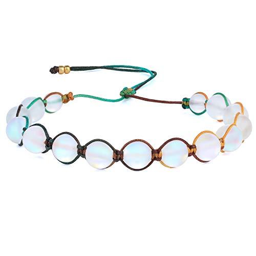 KANYEE Bracelets De Perles Lune Bracelet Rang Coloré Bracelets De Corde Faits à La Main pour Femmes – 23L
