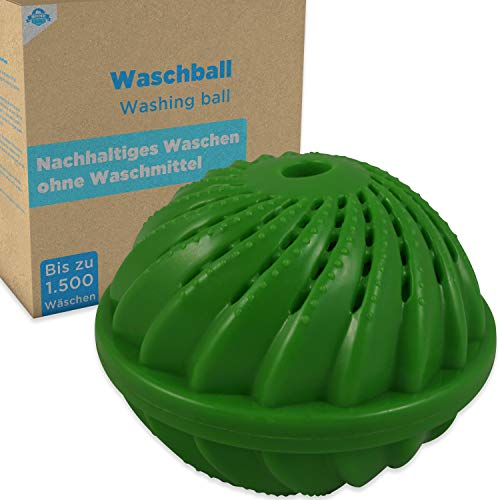 Wasbal wasbal voor wasmachine met natuurlijke werking door zilverionen en mineralen. Wassen zonder wasmiddel. Eco wasbal - duurzaam en slijtvast