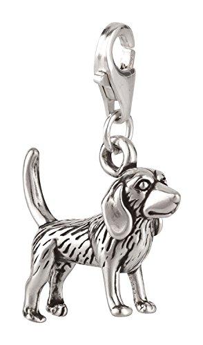 Charm Anhänger Hund Beagle 2 aus 925 Sterling Silber