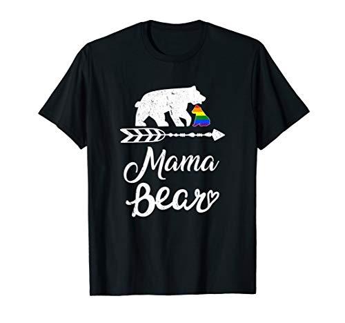 Mama Bear LGBT T-Shirt Rainbow Pride Gay Lesbian T-Shirt