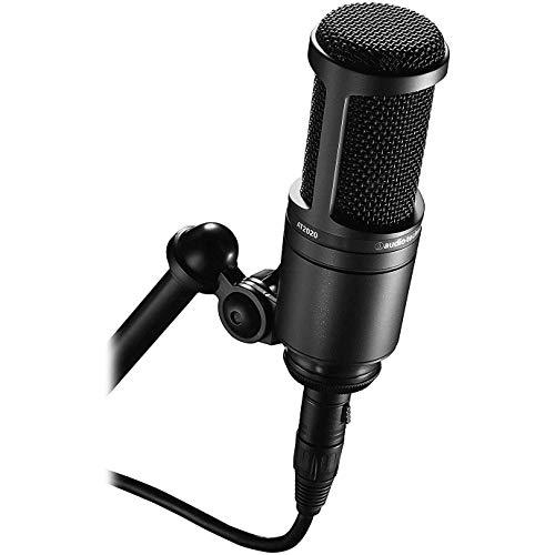 Microfone audio-technica AT2020 Pro Cardioide Condensador, Preto, Grande