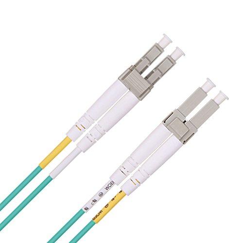 LWL Patchkabel LC auf LC 10m, OM3 Multimode Duplex 50/125 Glasfaserkabel LSZH für 10Gb/Gigabit SFP Transceiver