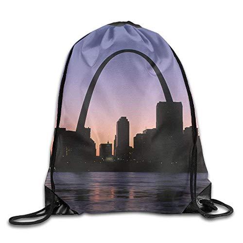 Sporttaschen Turnbeutel, Drawstring Bags Bulk, Unisex St. Louis City Print Drawstring Backpack Rucksack Shoulder Bags Gym Bag Sport Bag