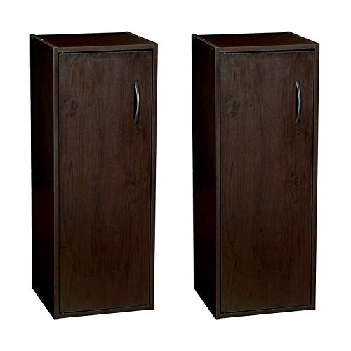 ClosetMaid 899100 Home Stackable 1-Door Storage Organizer, Espresso (2 Pack)