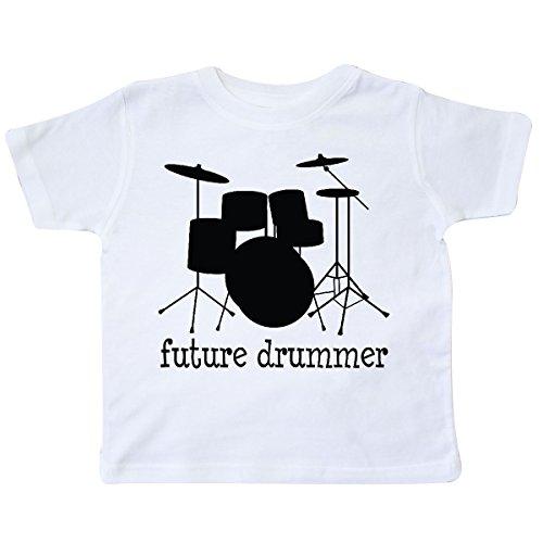 inktastic Future Drummer Toddler T-Shirt 4T White E3ed