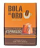 Bola De Oro Capsulas Café Biodegradables 100% Arábica, Espresso, 12 Piezas