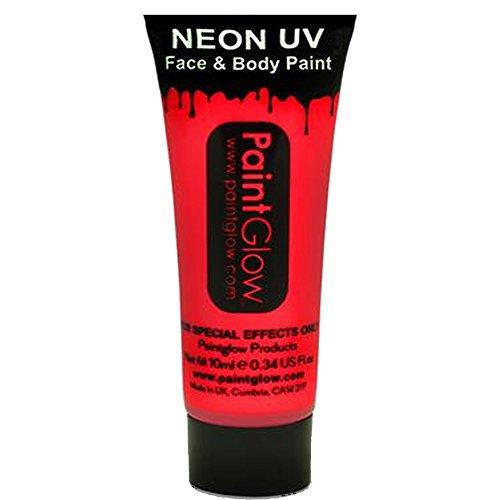 Smiffys - SM45990 - Peinture UV Corps et Visage 10 ml Rouge - Taille Unique