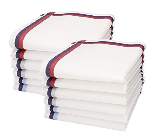 Betz lot de 12 mouchoirs pour homme 40 x 40 cm en 100% coton, 6 dessins au choix couleur Design 2
