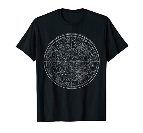 Astronomie - Sterne - Sternbilder - Jahrgang Karte T-Shirt
