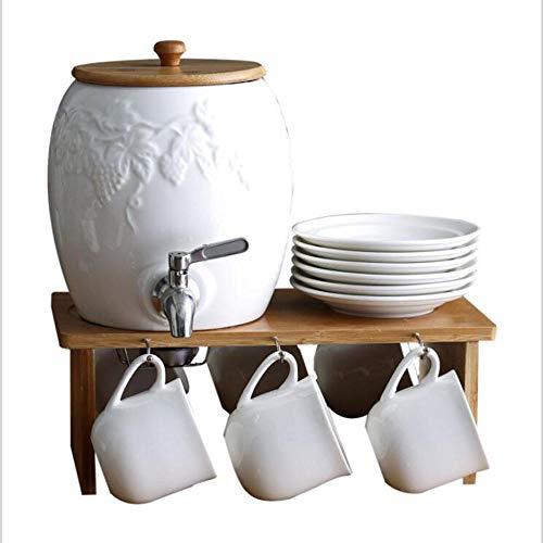 Juego de tetera fría de cerámica Juego de té para adultos Taza de café Infusor de té europeo para el hogar - El mejor regalo