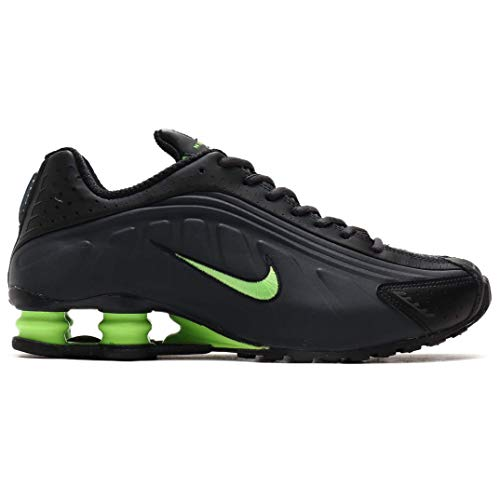 Nike Mens Shox R4 Running Shoes (8) Charcoal/Lime