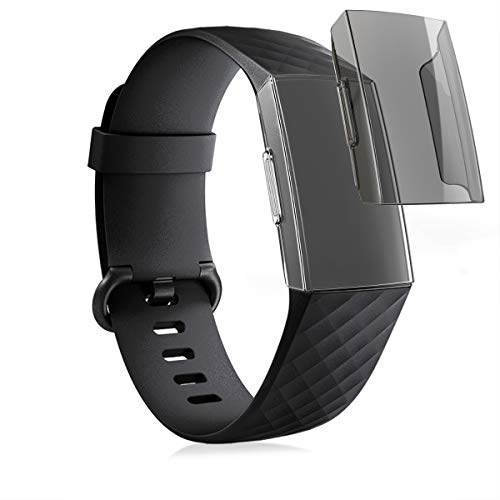 kwmobile 2X Protezione Schermo Compatibile con Fitbit Charge 3/4 - Cover Display Fitnesstracker - Non Include Il Tracker