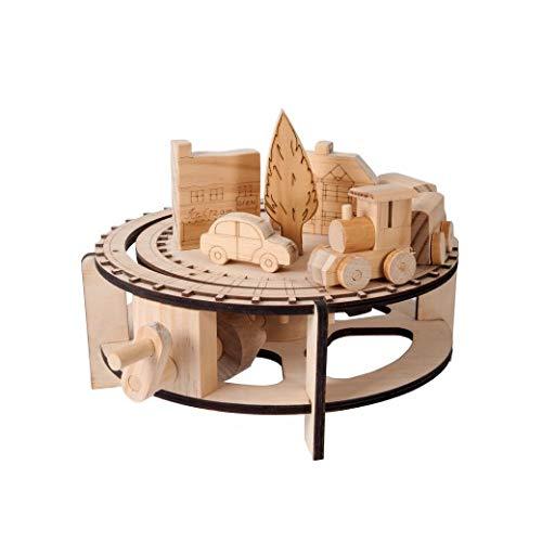 TIMBERKITS Chuffy Tren Auto-Montaje Modelo de Madera en Movimiento Kit de construcción