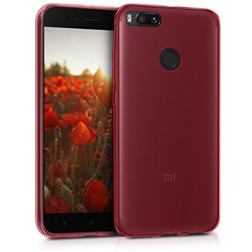 kwmobile Funda Compatible con Xiaomi Mi 5X / Mi A1 - Carcasa de TPU para móvil - Cover Trasero en Rojo