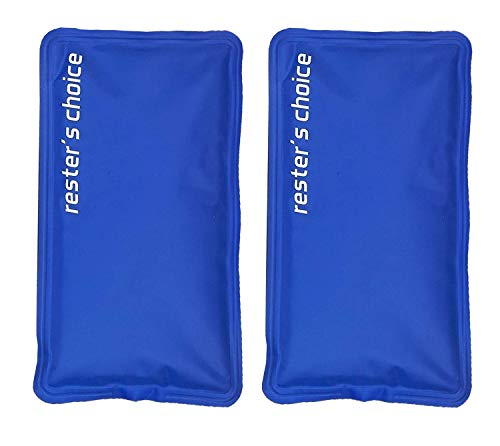 Rester's Choice Gel Cold & Hot Packs (2-Piece Set) Medium 5x10 in. Reusable Warm or Ice Packs for Injuries, Hip, Shoulder, Knee, Back Pain – Hot & Cold Compress for Swelling, Bruises, Surgery