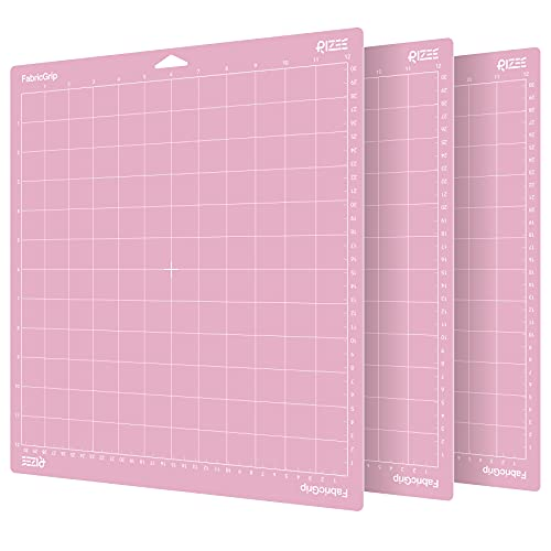 """3 Pack of RIZEE FabricGrip Cutting Mats for Cricut 12"""" X 12"""" Now $8.49"""