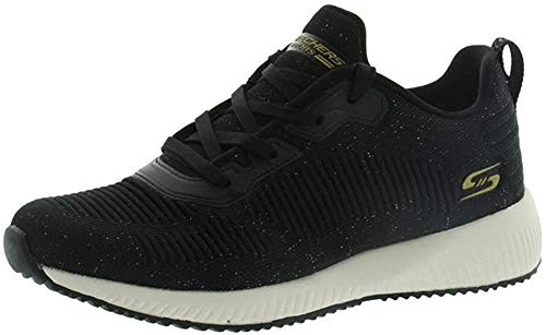 Skechers Bobs Squad-Total Glam, Zapatillas Mujer, Negro (BKMT Black and Multi Engineered Knit), 38 EU