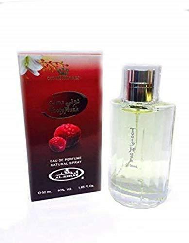 Al Rehab TOOTY MUSK Eau de Parfum 50ml spray voor heren NOTEN: Zwarte bes, rozenbottel, roze peper, framboos, braam, witte musk, lelie en vanille