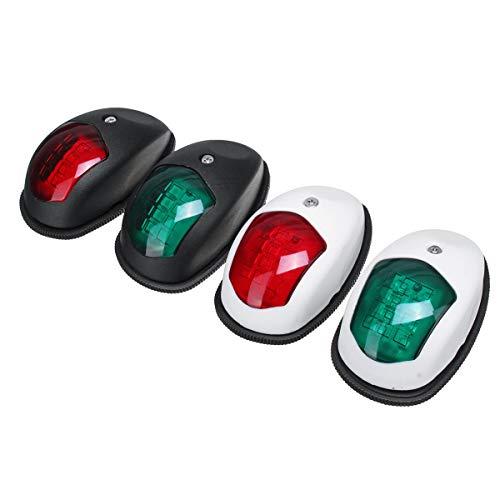 ywzhushengmaoyi Pompe Electrique 10V-30V LED Visage Lampe Se connecter Feux de Navigation for Le Camion remorque de Bateau Van Rouge Vert - Blanc gonfleur Electrique Ballon (Color : White)