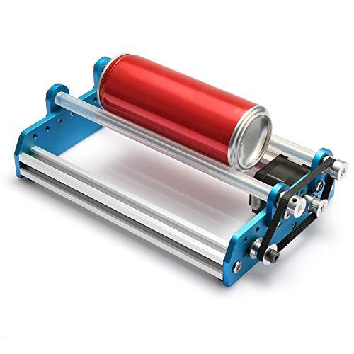 Genmitsu Aluminium Y-Achsen Rotationswalzen-Gravurmodul für die Laserbearbeitung von zylindrischen Objekten, wie beispielsweise Dosen, kompatibel mit den meisten Desktop-Lasergravierern