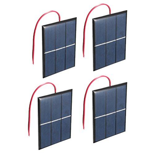 NUZAMAS Ensemble de 4 pièces 1.5V 0.65W 60X80mm Micro Mini Panneau Solaire cellules pour l'énergie de l'énergie Solaire, Accueil Bricolage, projets scientifiques - Jouets - Chargeur de Batterie