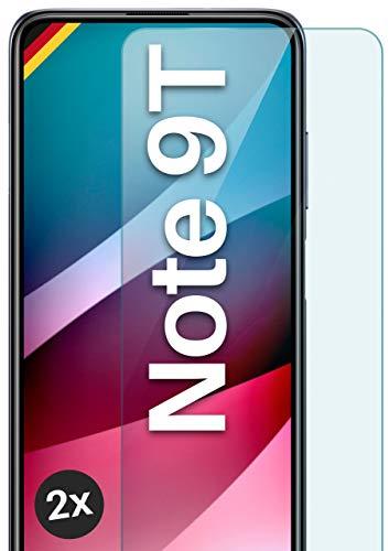 moex Panzerglas kompatibel mit Xiaomi Redmi Note 9T - Schutzfolie aus Glas, bruchsichere Displayschutz Folie, Crystal Clear Panzerglasfolie, 2X Stück