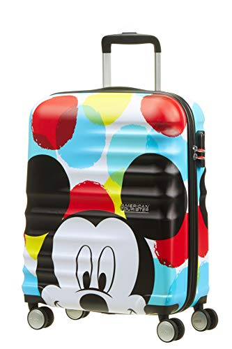 American Tourister Disney Wavebreaker - Maleta Infantil, Spinner S (55 cm - 36 L), Multicolor (Mickey Close-Up)