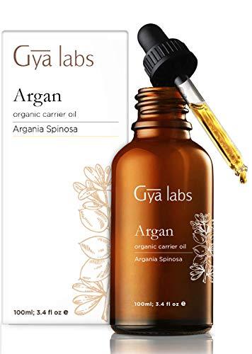 Aceite de argán orgánico para el cabello - Un toque nutritivo de hidratación saludable (3.4fl oz) - Aceite de argán marroquí 100% puro, prensado en frío y sin refinar