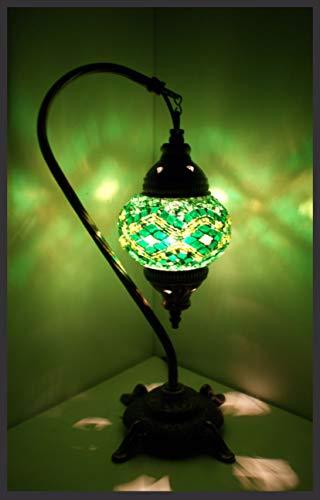 Mosaiklampe Mosaik - Stehlampe S Tischlampe orientalische lampe türkische lampe GRÜN Samarkand-Lights
