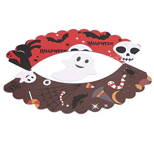LoveAloe 12 / Set Halloween Party Cupcake Topper Halloween Partyzubehör Cupcake Dish Dekoration, Blut Handabdruck Schere (1)