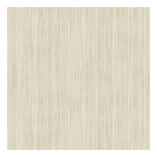 EXCEL, WALLCOVERINGS|Wallpaper | Vinyl with Non-Woven Backed Easy Peel Off Material|Plain|Cream| OffWhite | Vertical Stripe Texture | 1000 x 53cm = 5.3Sq.m. or 57Sq.ft.