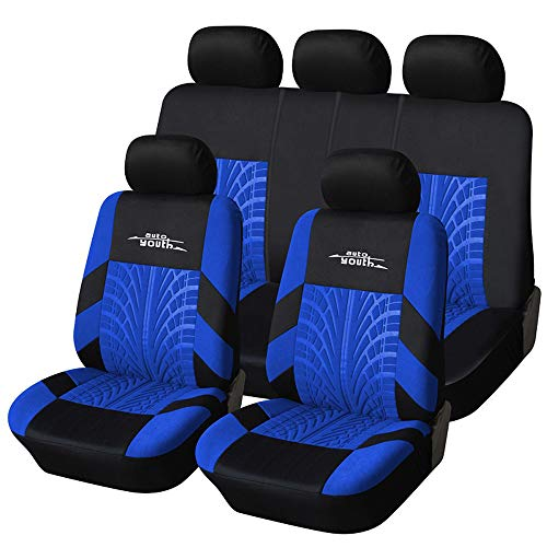 AUTOYOUTH Car Seat Covers Universal Fit Full Set Car Seat Protectors Tire Tracks Car Seat...