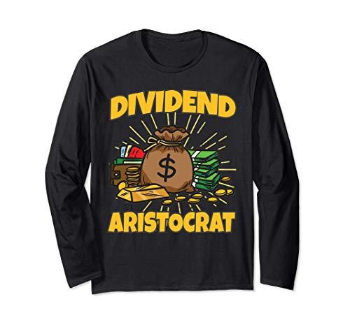 Dividend Aristocrat | 株主ユーモア 長袖Tシャツ