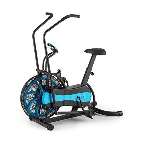 CAPITAL SPORTS Stormstrike 2k Wellness Edition - Bicicleta estática ergométrica, Carga hasta 120 kg, Pantalla integrada, Altura sillín regulable, Entrenamiento dual (Piernas y Brazos), Negra azul