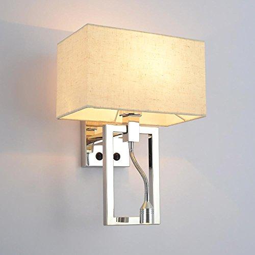 OOFAY LIGHT Moderna Lampada da Parete da Comodino con Lampada da Parete in Acciaio Inox. Lampada da Parete 3WLED