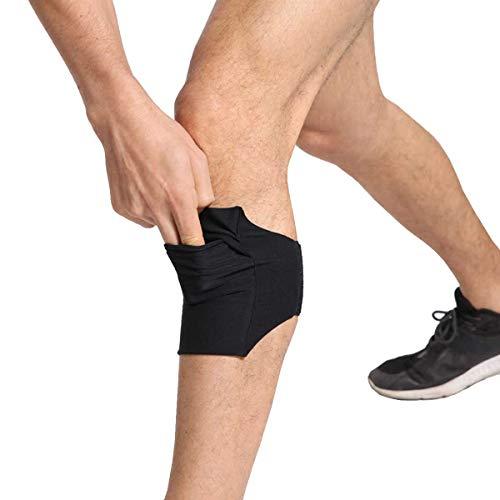 Ailzos Equestrian Riders On The Leg Soporte para teléfono celular para la pierna/pantorrilla – Banda de pierna para ecuestres, Jogger, Hiker, soporte para brazo de ejercicio para correr, Negro M