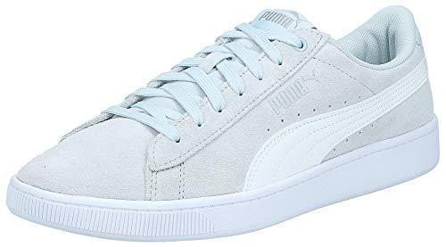 Puma Women's Vikky v2 Plein Air White Silver Sneaker-4 UK (4062451568078)