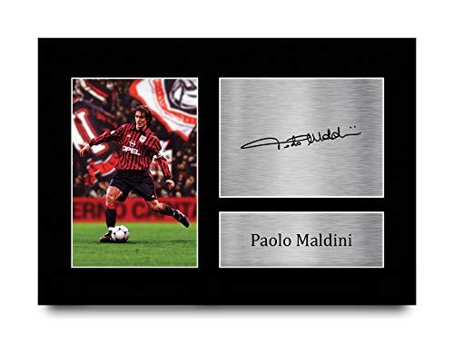 HWC Trading - Foto con autografo formato A4, motivo: Paolo Maldini AC Milan, formato A4