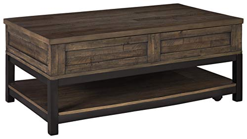 Signature Design by Ashley Johurst Rect Lift Top Cocktail Table Grayish Brown