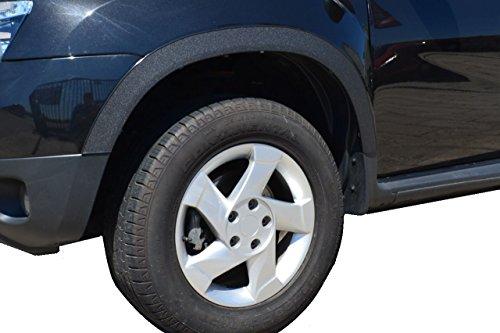 Set Radlaufverbreiterung Kotflügel Schmutzfänger Radlaufleisten X-Trail 2002-2008 ohne Schmutzfänger x4 Stück (Schwarz Matte)