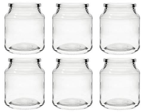 hocz Windlicht Set Teelichtgläser | 2/4/6 teilig | Typ 175 | Rund Hochwertiges Glas | Glasdose Glasgefäß Tischdeko Teelichtgläser Hochzeitsdeko (6 Stück)