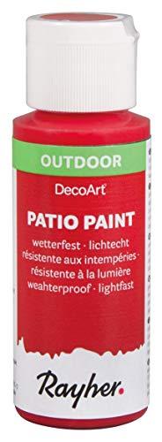 Rayher 38610286 Patio Paint, Rot (Cherry) 59 ml
